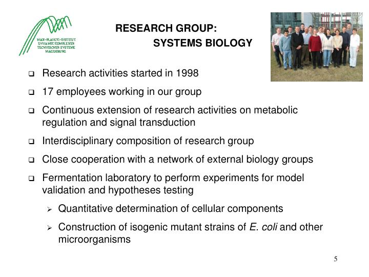 RESEARCH GROUP: