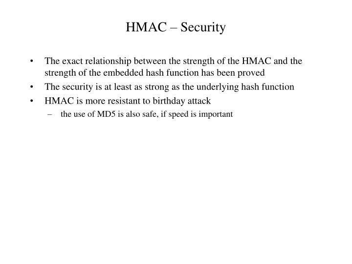 HMAC – Security