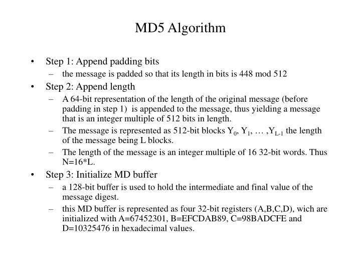 MD5 Algorithm