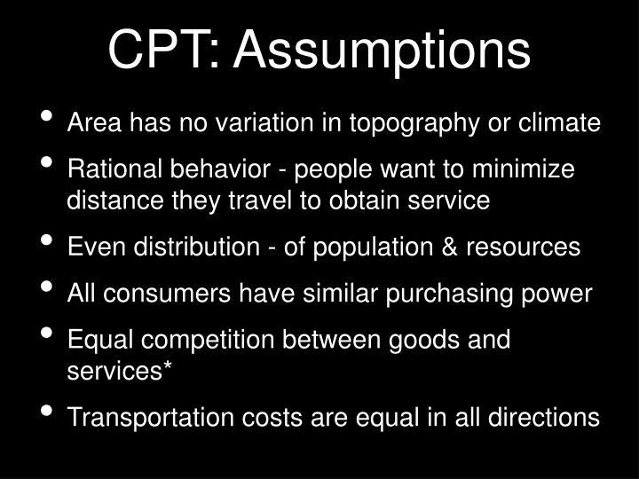 CPT: Assumptions