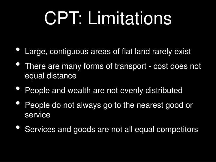 CPT: Limitations