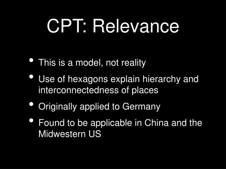 CPT: Relevance