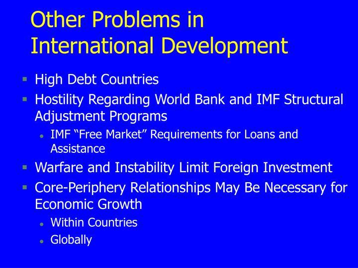 Other Problems in International Development