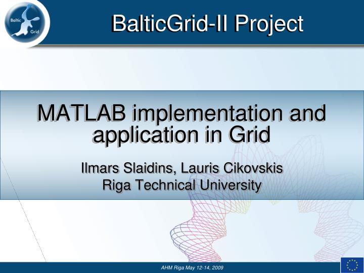 matlab implementation and application in grid