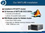 our matlab installation