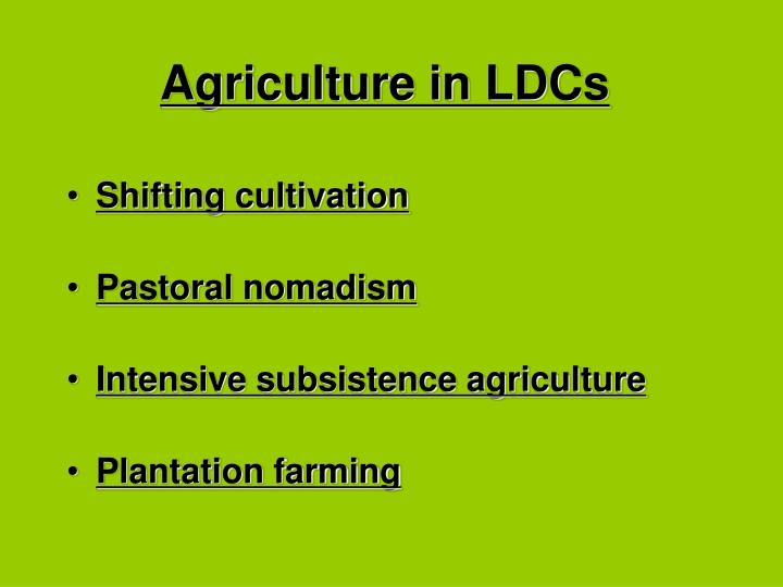 Agriculture in LDCs
