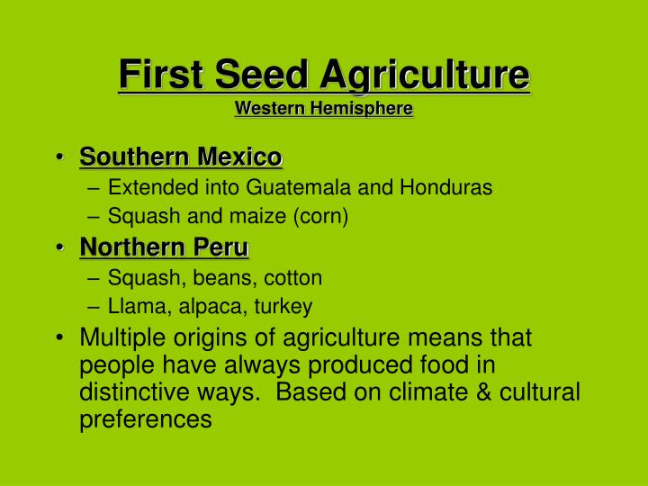 First Seed Agriculture
