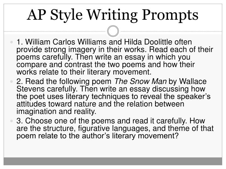 AP Style Writing Prompts