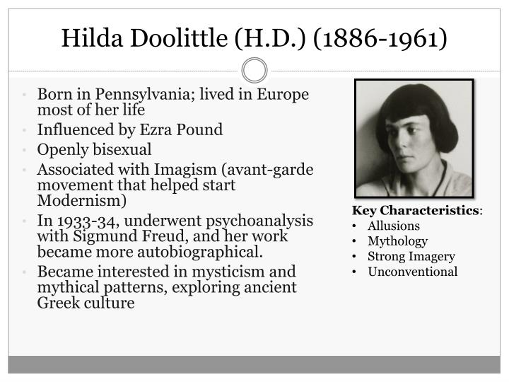 Hilda Doolittle (H.D.) (1886-1961