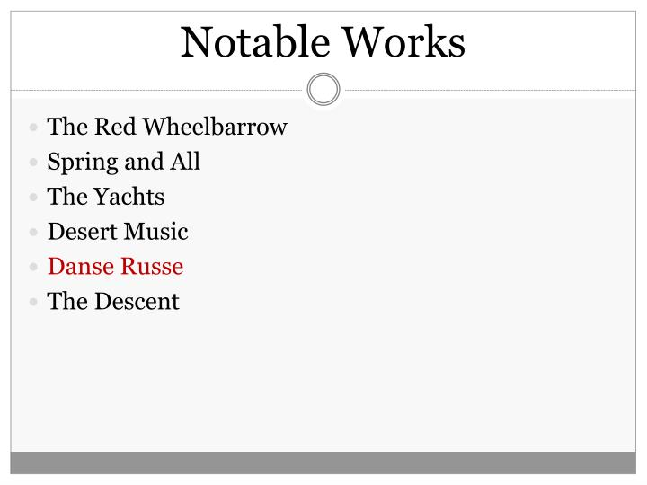 Notable Works