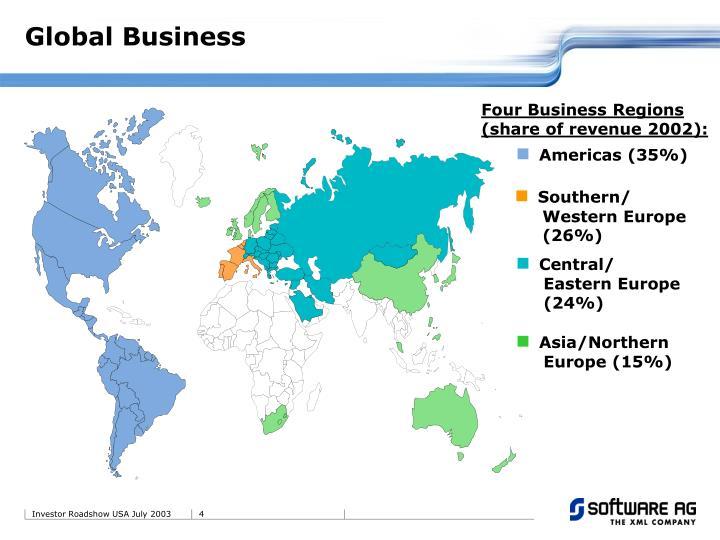 Four Business Regions (share of revenue 2002):