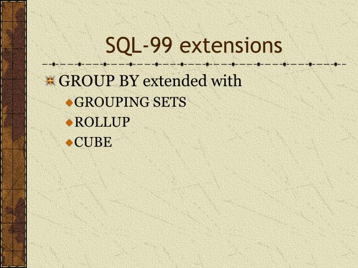 SQL-99 extensions