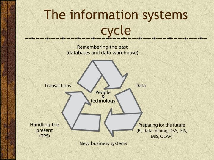 The information systems cycle
