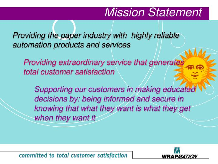 Providing the paper industry with  highly reliable automation products and services