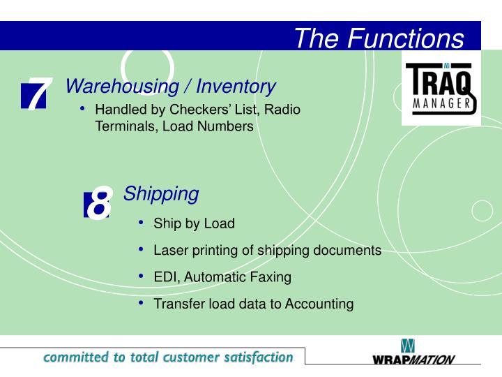 Warehousing / Inventory