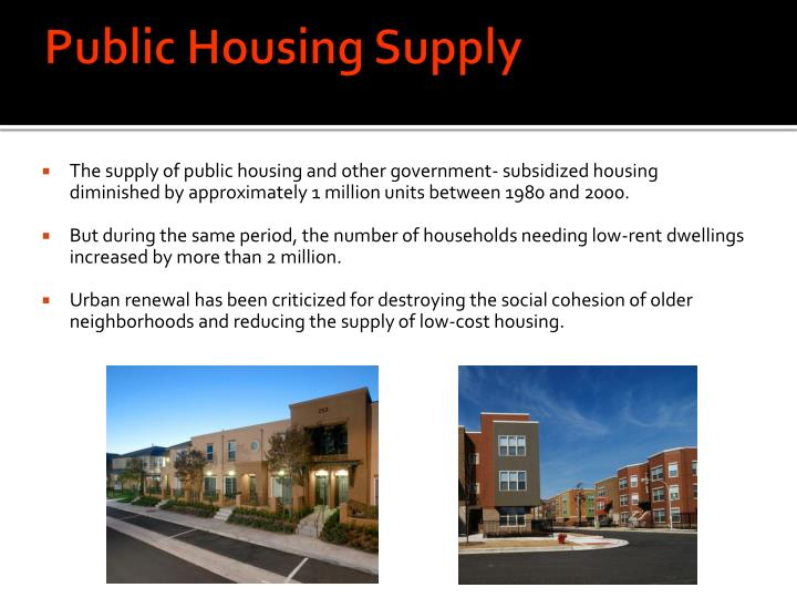 Public Housing Supply