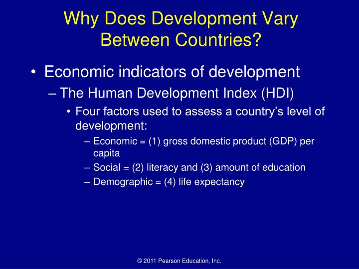 Why does development vary between countries