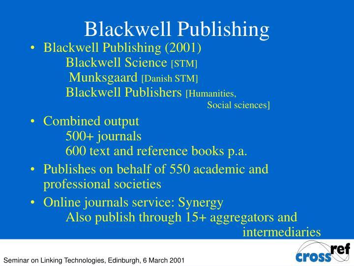 Blackwell Publishing