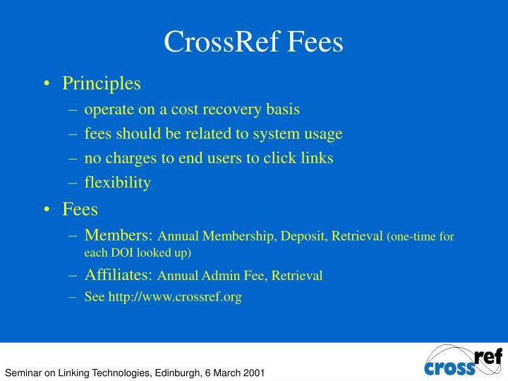 CrossRef Fees