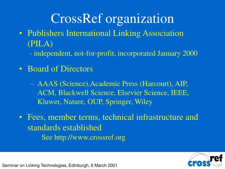 CrossRef organization