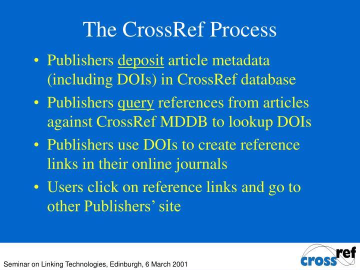 The CrossRef Process