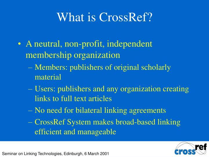 What is CrossRef?