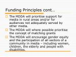 funding principles cont