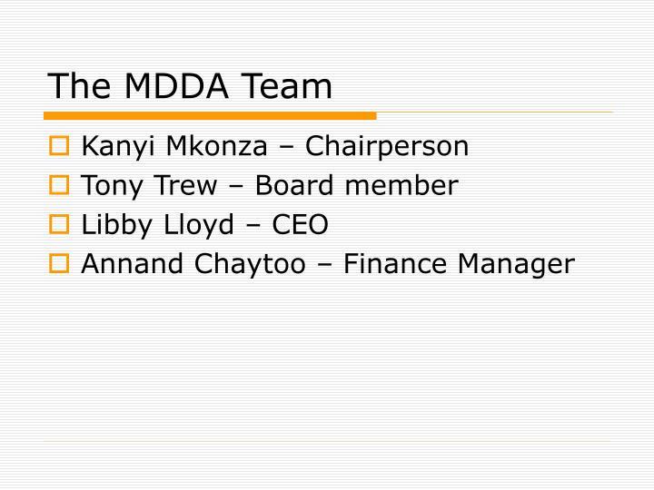 The MDDA Team