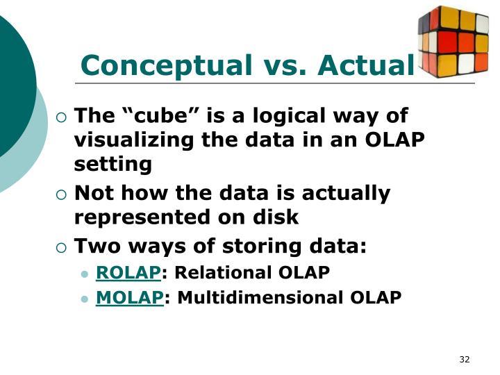 Conceptual vs. Actual