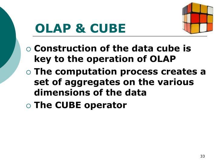 OLAP & CUBE