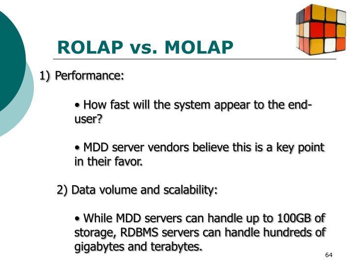 ROLAP vs. MOLAP