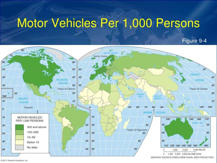 Motor Vehicles Per 1,000 Persons