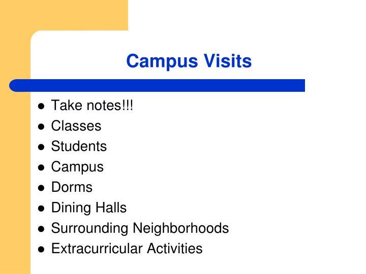 Campus Visits