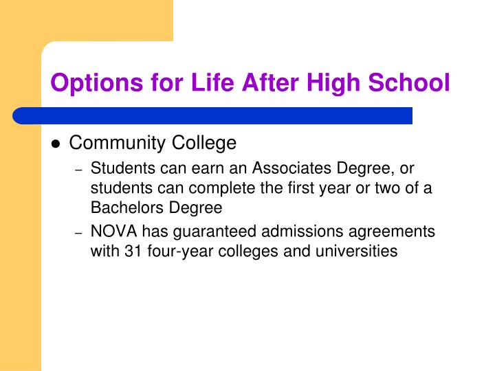 Options for Life After High School