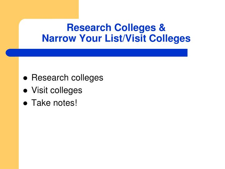 Research Colleges &