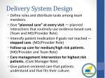 delivery system design