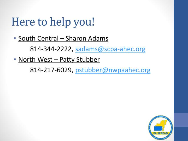 Here to help you!