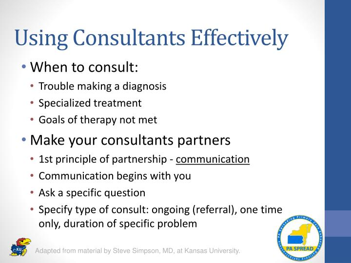 Using Consultants Effectively