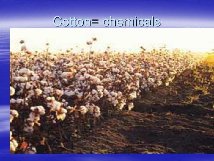 Cotton= chemicals