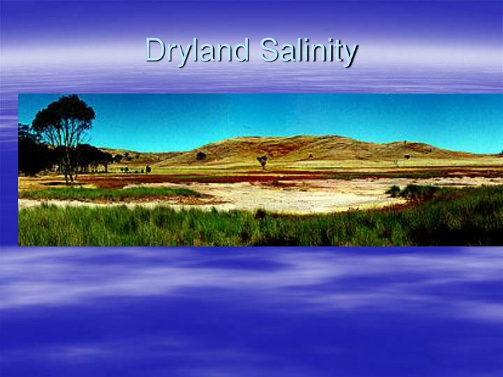 Dryland Salinity