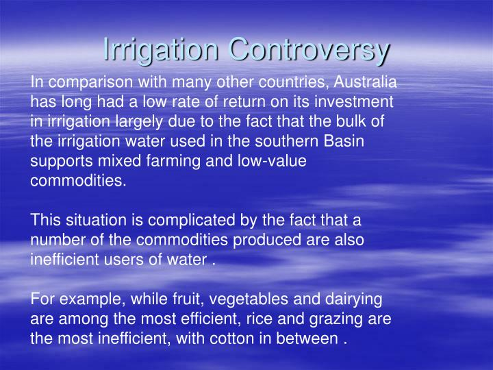 Irrigation Controversy