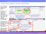 event rule editor event properties