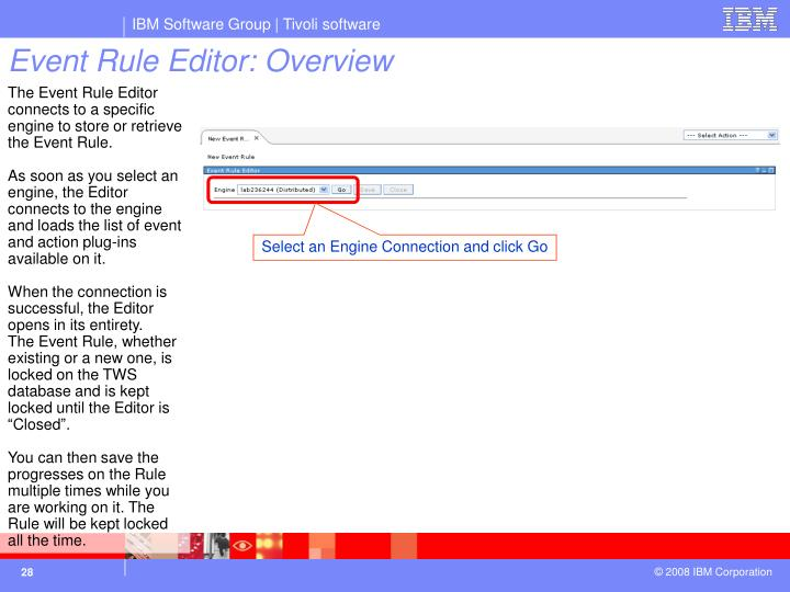 Event Rule Editor: Overview