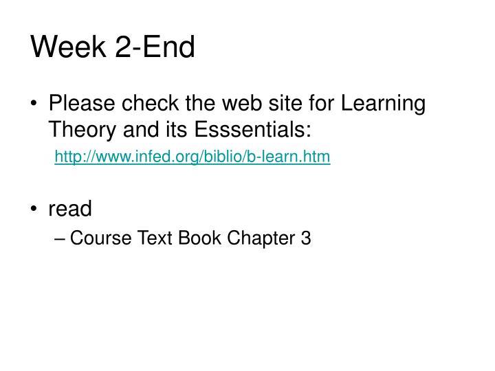 Week 2-End