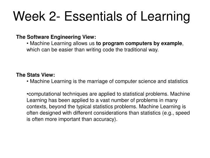 Week 2- Essentials of Learning