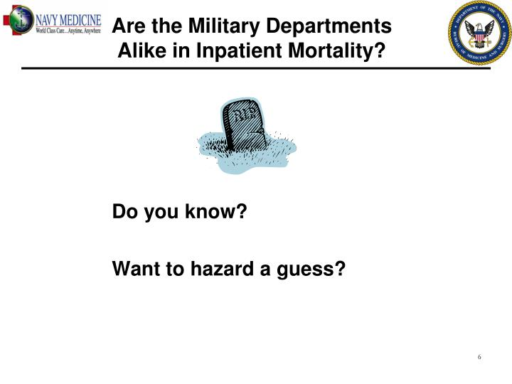 Are the Military Departments             Alike in Inpatient Mortality?