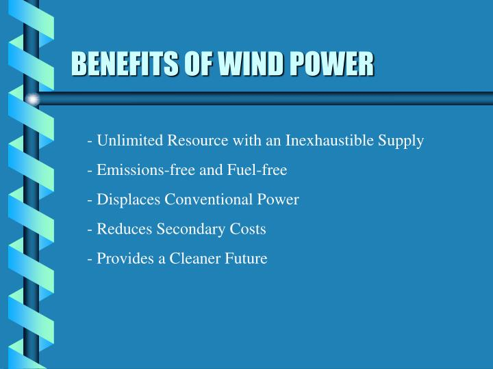 BENEFITS OF WIND POWER