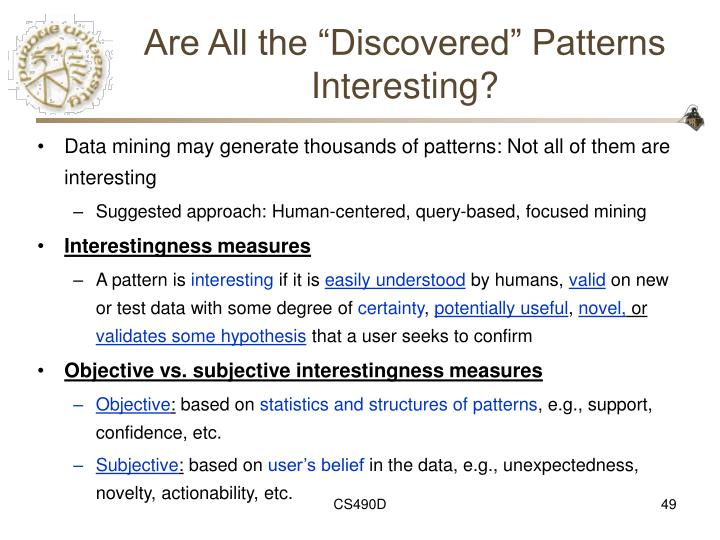"""Are All the """"Discovered"""" Patterns Interesting?"""