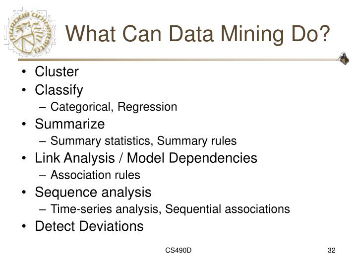 What Can Data Mining Do?