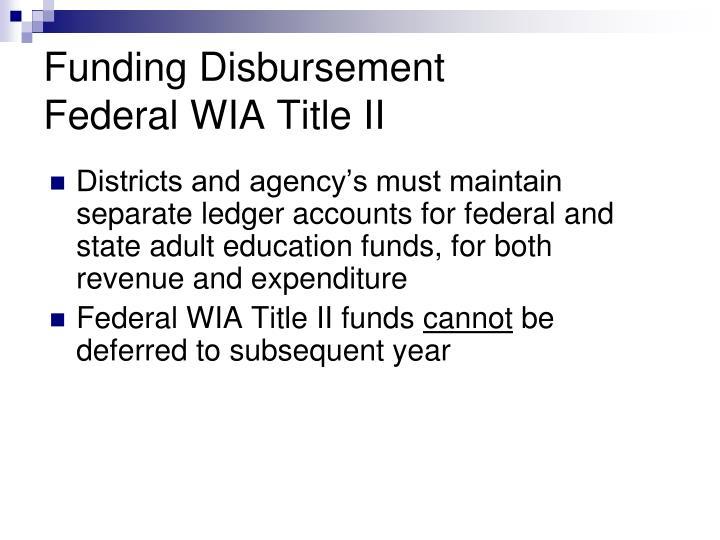 Funding Disbursement